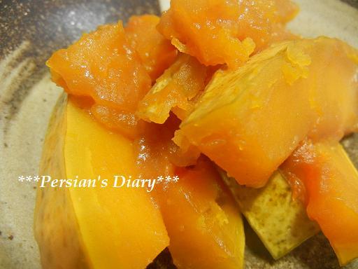 かぼちゃの味噌バター煮♪