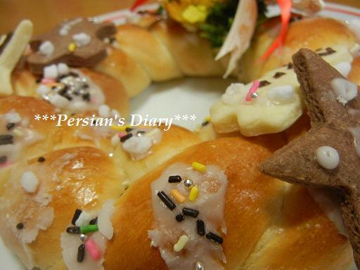 クリスマスリースのパン♪