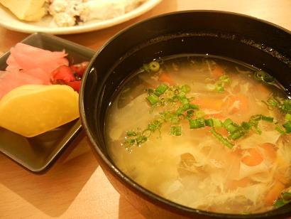 スープとお漬物