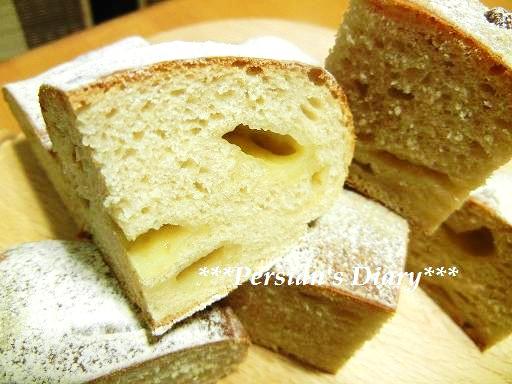 全粒粉のチェダーチーズパン♪
