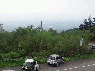 展望台から富良野盆地を望む