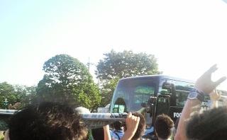 11柏戦バス迎え