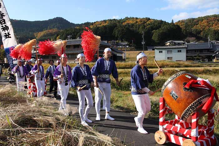 下部神社 太鼓踊り1