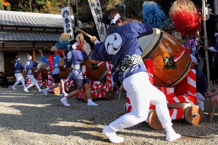 下部神社 太鼓踊り3