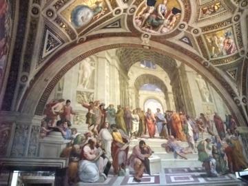 ローマ042ラファエロ・アテネの学堂