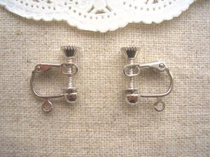ロジウムのイヤリングパーツ