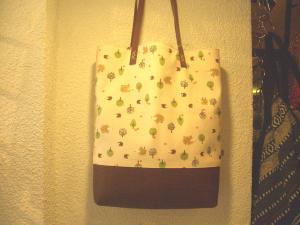 ハリネズミの巾着バッグ