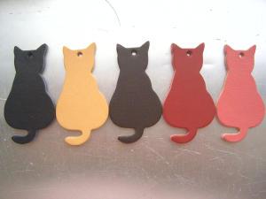 革パーツ:ネコ5色