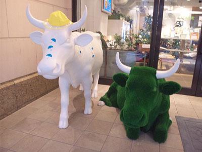 丸の内カフェの牛たち10052401