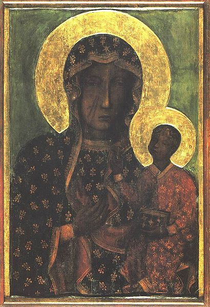 410px-Czestochowskaヤスナ・グラ僧院の黒い聖母