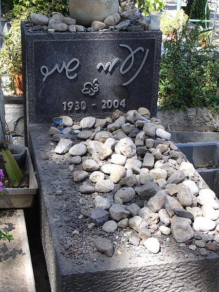 450px-Naomi_Shemer27s_graveナオミ・シェメルの墓