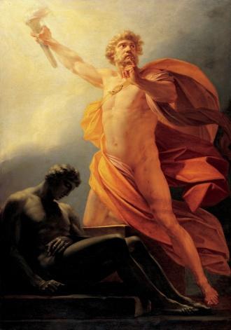 Heinrich_fueger_1817_prometheus_brings_fire_to_mankind火を与えるプロメーテウス