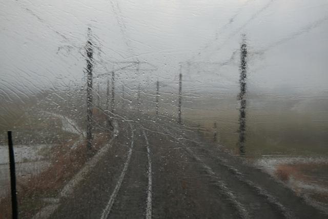 復路の悪天候