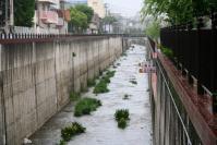 新湊川増水