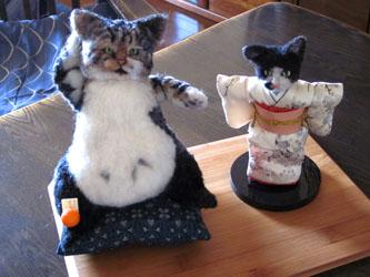 正月猫たち