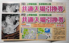 当選 上野動物園入場引換券!