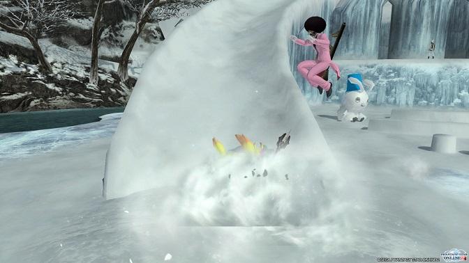 雪遊びピヨ