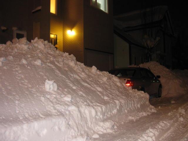 積雪・・・