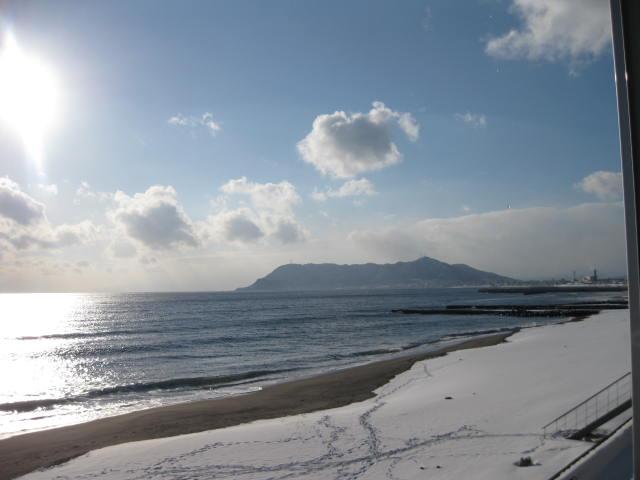 仕事先から見えた函館山