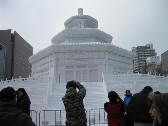 天壇 祈年殿 雪祭り