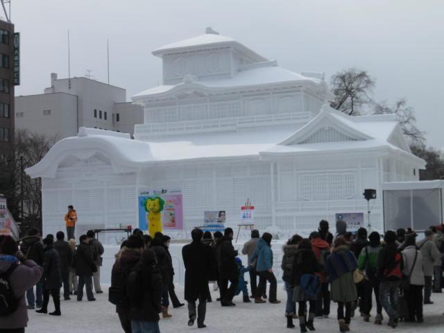 本願寺 飛雲閣 雪祭り