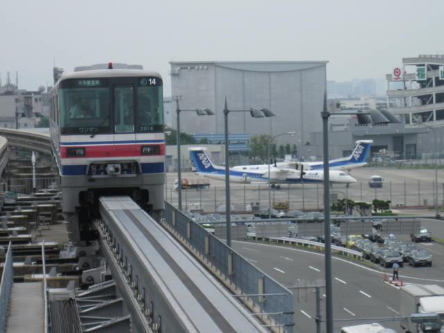 大阪モノレールはとろい・・・