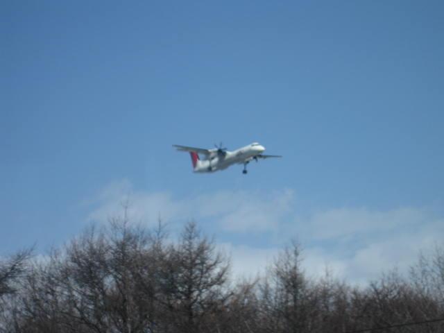 列車から見えた飛行機