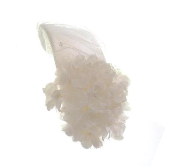 ボンネ ふわふわ絹の小花 02