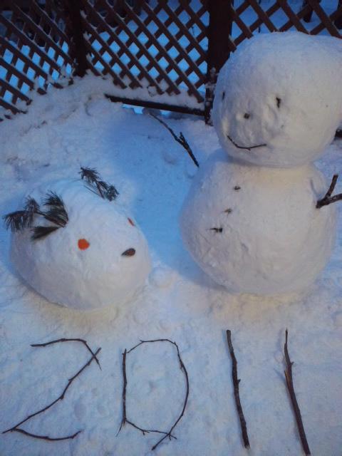 雪ダルマ2011