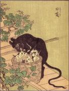 旧鼠(『絵本百物語』)
