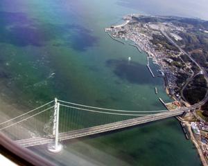 スカイマーク機内(6)明石海峡大橋