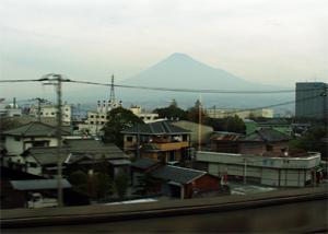 東海道新幹線車窓(富士山)