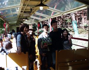 嵯峨野トロッコ列車車内2