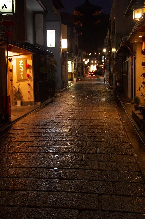 雨の清水寺界隈