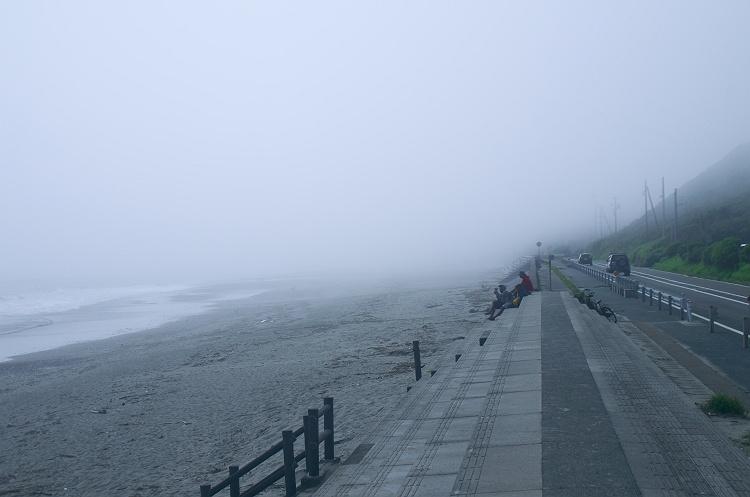 濃霧の御前崎