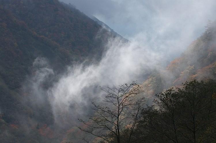 秋色の大谷崩 2 ~光 流れて~