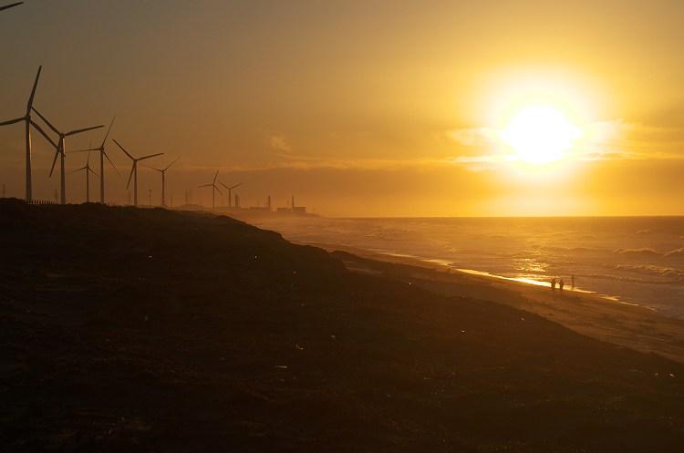 遠州灘の夜明け