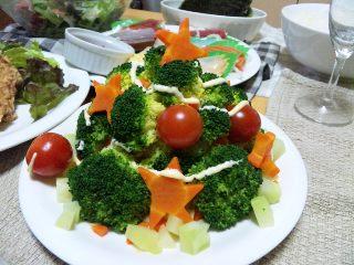 ブロッコリーのツリーサラダ