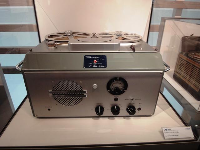 ソニー歴史資料館初代テープレコーダーG型