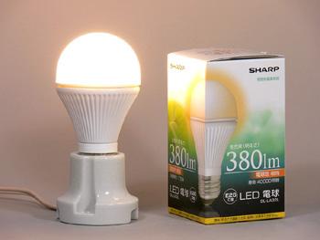 LED電球40Wクラスシャープ「エルム 380lm DL-LA32L」