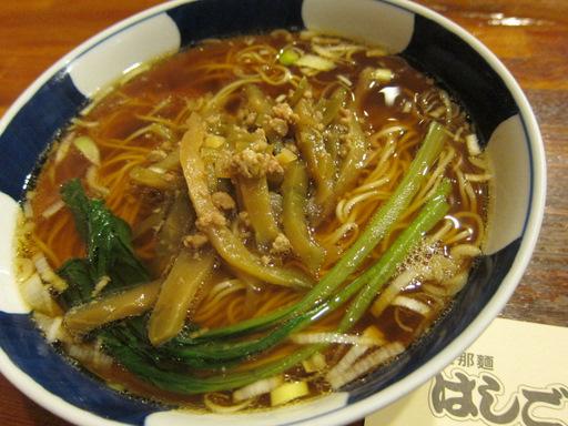 はしご(搾菜麺)