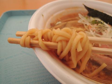 三十路の味噌ジンジャーラーメンの麺