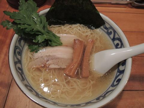 鯛だし塩そば(極細麺)(650円)