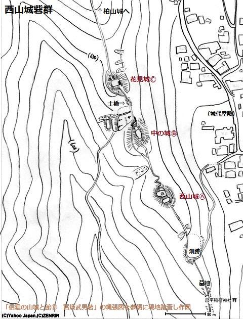 西山城砦群①