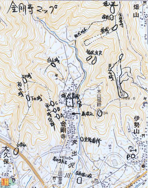 金剛寺周辺マップ