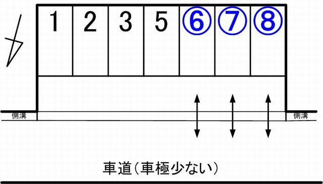 蔵漆倶第2駐車場見取り図