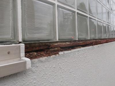 ガラスブロック塀補修02