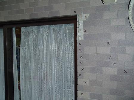02 バルコニー内壁の震災によるクラック