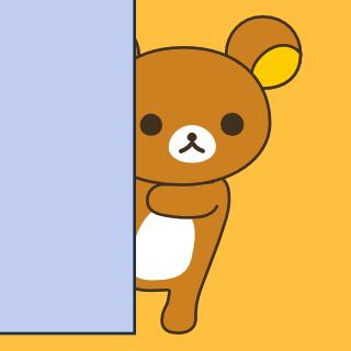 壁に隠れたクマ
