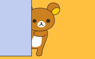 壁に隠れたクマ(壁紙サムネ)